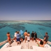 Approacing a sand bar on the Barrier Reef