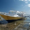 Daytrip dive boat ready for the next adventure from Lembongan Island