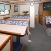 The MV Islander's indoor saloon