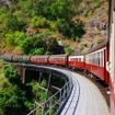 Kuranda scenic train route in Queensland, Australia