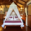 Lankayan Dive Resort, spacious chalet with double bed
