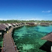 Sipadan Water Village - bajau architecture over the shallows of Mabul