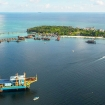 Seaventures Dive Rig Resort, located next to Mabul Island, Borneo Malaysia