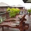 Every chalet at Sipadan Water Village has a private balcony