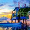 Mosquito-free sunsets on Seaventures Dive Rig Resort