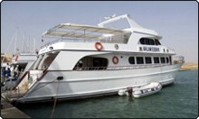 The Seadream Hurghada day trip boat in the Red Sea