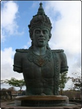 Statue of Lord Vishnu, Garuda Wisnu Kencana Cultural Park, Nusa Dua, southern Bali - photo by Sheldon Hey