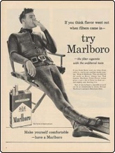 Cigarette advert using a diver from the 1960s