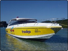 Phi Phi diving Speed boat, used for trips down to Hin Daeng