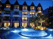 Patong Seaview Hotel in Phuket, illuminated at night