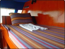 One of the upper bunk beds
