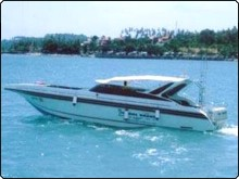 The day trip speedboat used for diving aroung the island of Koh Samui