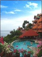 The swimming pool at the Best Western Samui Bayview Resort just outside Chaweng